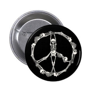 Peace Sign Skeletons Buttons