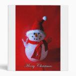 Peace Sign Snowman binder