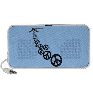 Peace sign notebook speaker