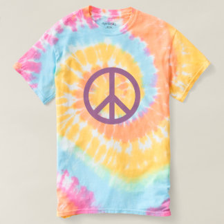 Peace Sign - Spiral Tie-Dye T-Shirt