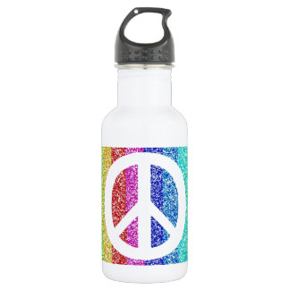 Peace Sign Stainless Steel Water Bottle