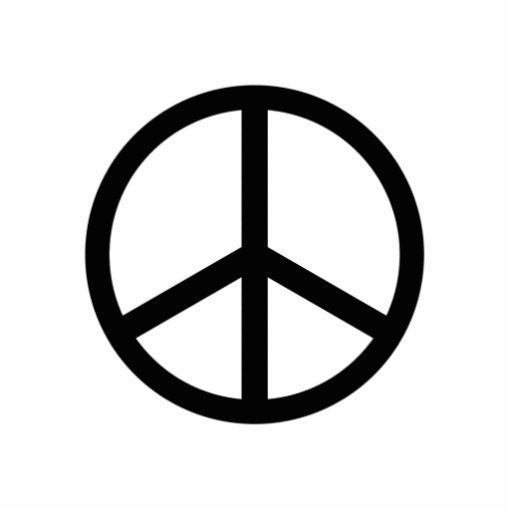 Peace Sign Statuette