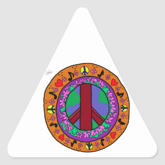 Peace Sign Triangle Stickers