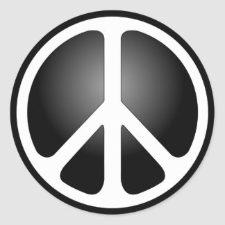 Peace Sign Round Stickers