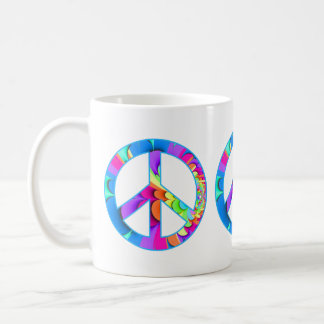 Peace Sign Summer Palette Coffee Mug