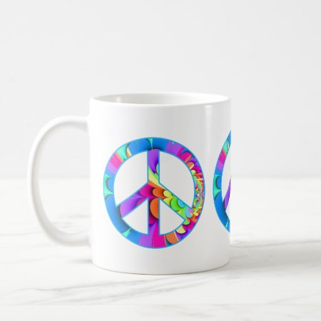 Peace Sign Summer Palette Coffee Mug