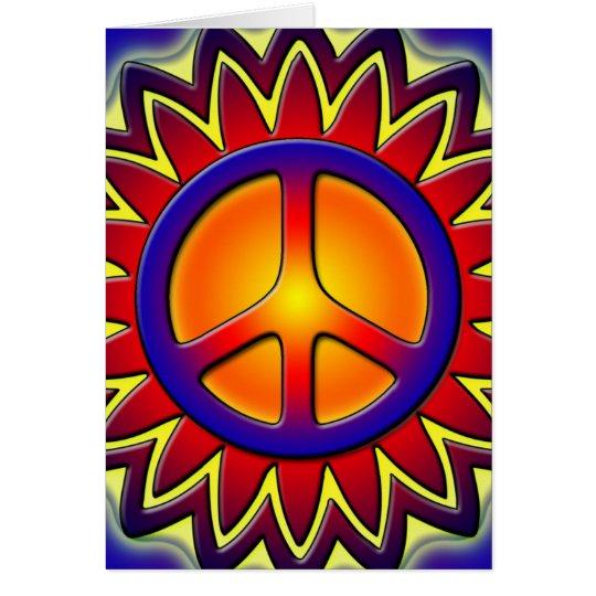 PEACE SIGN SUN CARD