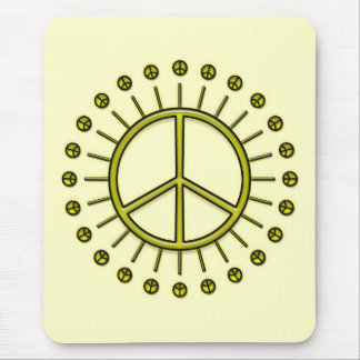 PEACE SIGN SUN MOUSE PAD