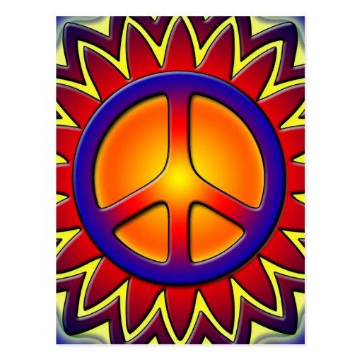 PEACE SIGN SUN POST CARDS