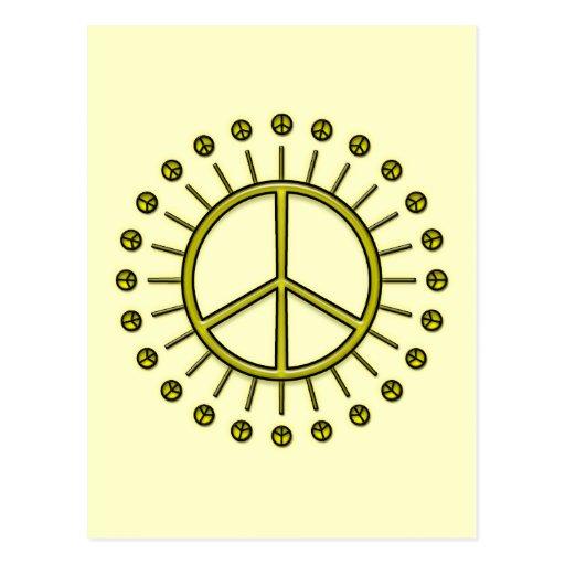 PEACE SIGN SUN POSTCARD