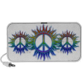 """""""Peace Sign Sun"""" Rainbow colored peace sign symbol Mp3 Speaker"""