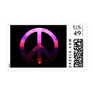 Peace Sign Sunrise Postage Stamps