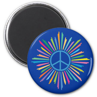 Peace Sign Symbol 2 Inch Round Magnet
