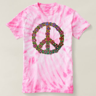 Peace Sign Symbol Flower Colorful Love T-shirt