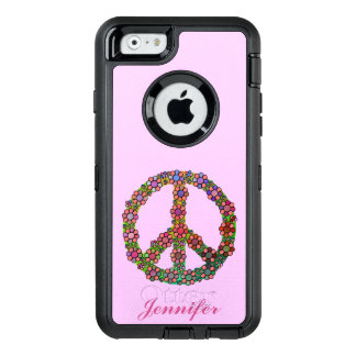 Peace Sign Symbol Flowers Floral Pretty Custom OtterBox iPhone 6/6s Case