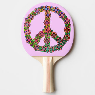 Peace Sign Symbol Flowers Pretty Ping-Pong Paddle