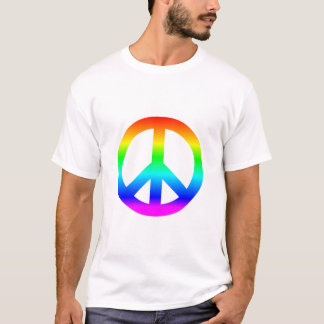 Peace sign symbol one world one planet one people T-Shirt