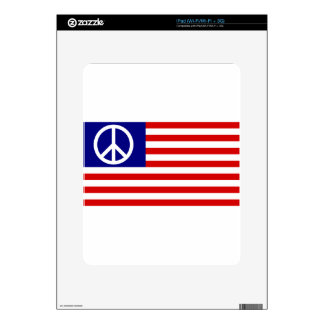 Peace Sign Symbol Stars & Stripes American US Flag Decals For iPad