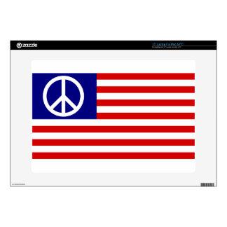 Peace Sign Symbol Stars & Stripes American US Flag Skins For Laptops