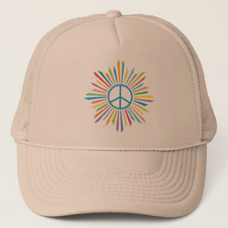 Peace Sign Symbol Trucker Hat