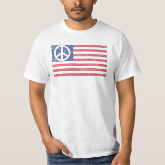 Peace Sign T-Shirt - American flag Peace Sign