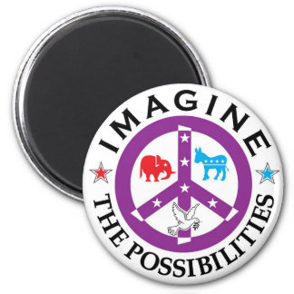 Peace Sign T-Shirt for Democratics and Republicans Fridge Magnet