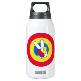 Peace Sign Target Insulated Water Bottle