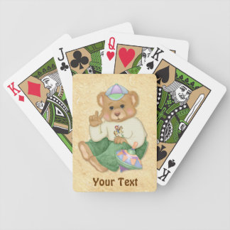 Peace Sign Teddy Bear Bicycle Playing Cards