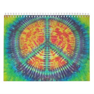 Peace Sign Tie Dye Calendar 2013