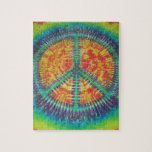 Peace Sign Tie Dye PhatDyes Jigsaw Puzzles