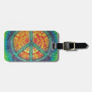 Peace Sign Tie Dye PhatDyes Bag Tags