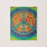 Peace Sign Tie Dye PhatDyes Puzzle