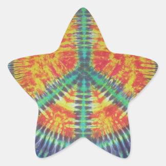 Peace Sign Tie Dye PhatDyes Star Sticker