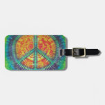Peace Sign Tie Dye PhatDyes Tags For Luggage