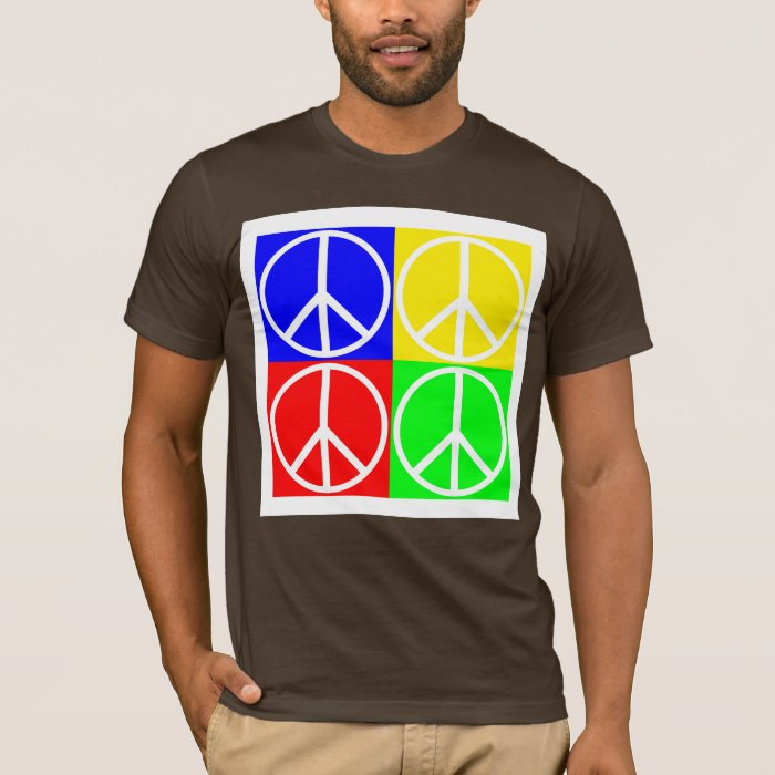 Peace Sign Tiles in Four Colors Shirt