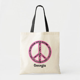 Peace Sign Tote Canvas Bag