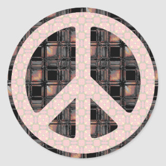 Peace Sign Trendy Classic Round Sticker