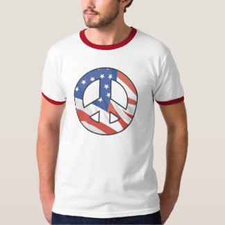 Peace Sign USA FLAG T-shirts