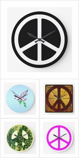 Peace Sign Wall Clocks