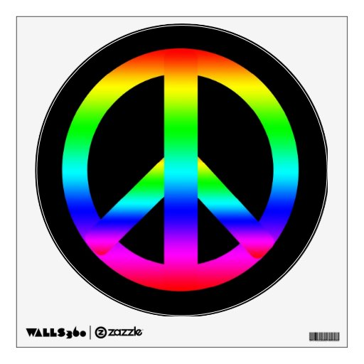 Peace Sign Wall Graphic