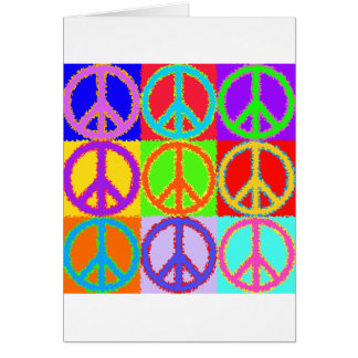 Peace Sign wavy design Card