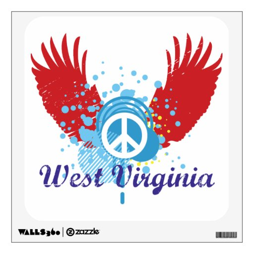 Peace Sign - West Virginia Wall Skin