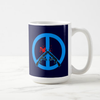 Peace Sign with AK-47s and Blood Coffee Mugs