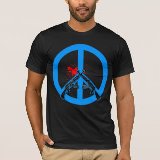 Peace Sign with AK-47s and Blood T-Shirt