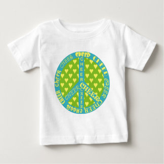 Peace Sign with Cheer in Frame Baby T-Shirt