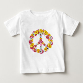PEACE SIGN WITH FLOWERS BABY T-Shirt