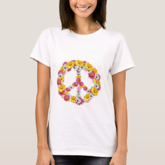 PEACE SIGN WITH FLOWERS T-Shirt