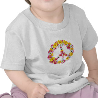 PEACE SIGN WITH FLOWERS SHIRTS