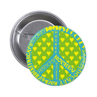 Peace Sign with Hockey in Frame Pins