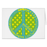 Peace Sign with Hockey in Frame Greeting Card